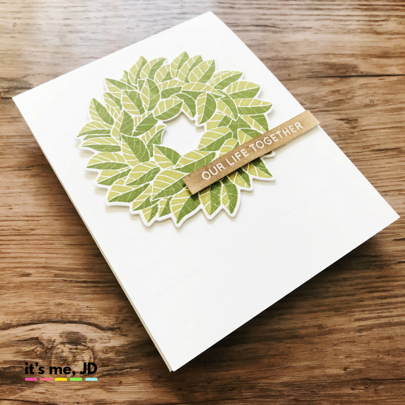 magnolia wreath Fixer Upper Inspired Cards | Sliding Barn Door and Farmhouse Crafts | Chip and Joanna Card