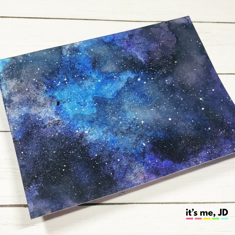 EASY WAYS TO DRAW A GALAXY _ crayola marker ink smooshing