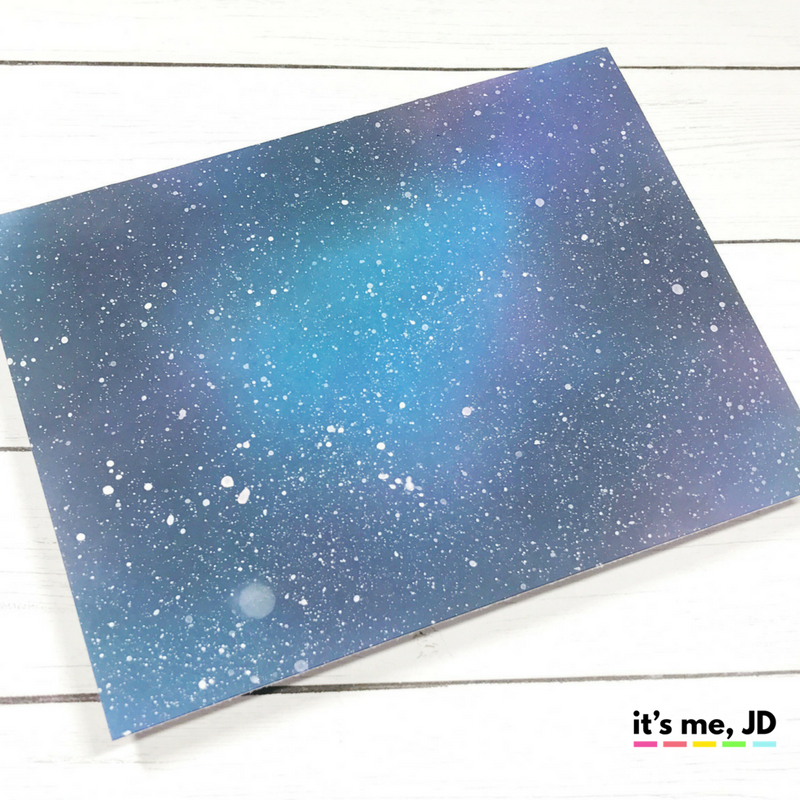 EASY WAYS TO DRAW A GALAXY, distress oxide ink blending