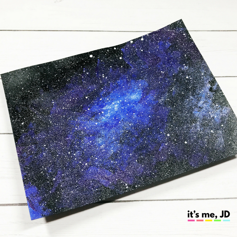 EASY WAYS TO DRAW A GALAXY, acrylic paint