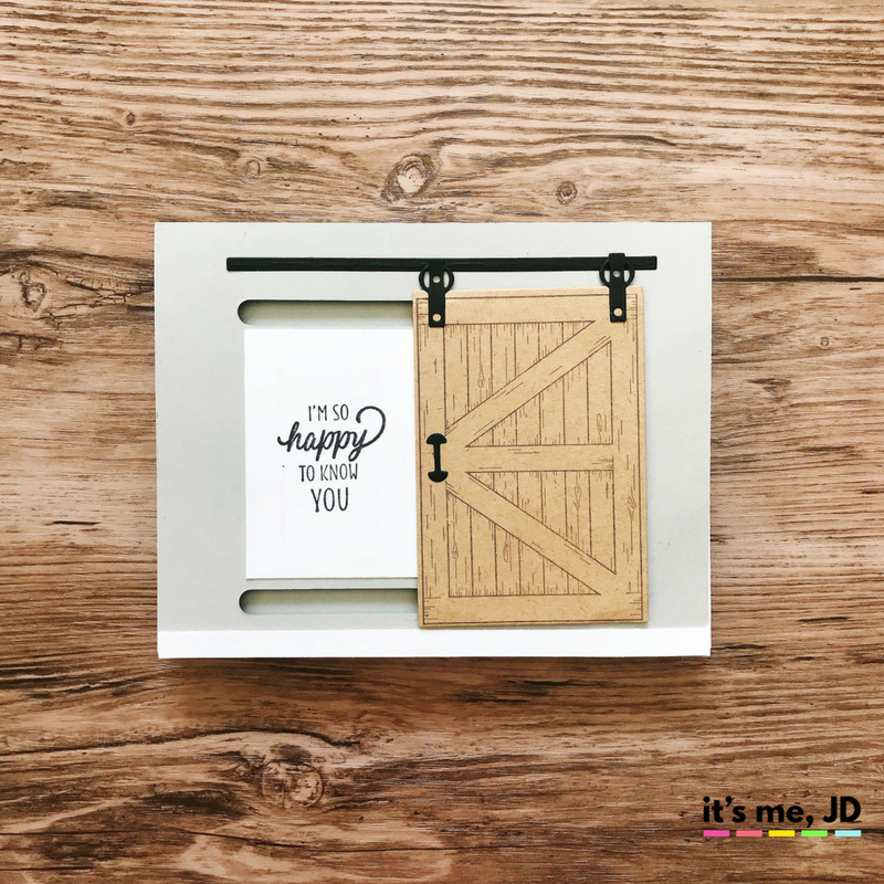 sliding barn door Fixer Upper Inspired Cards | Sliding Barn Door and Farmhouse Crafts | Chip and Joanna Card