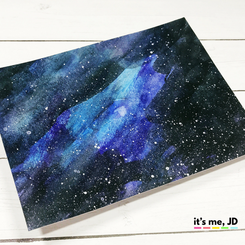 EASY WAYS TO DRAW A GALAXY Watercolor