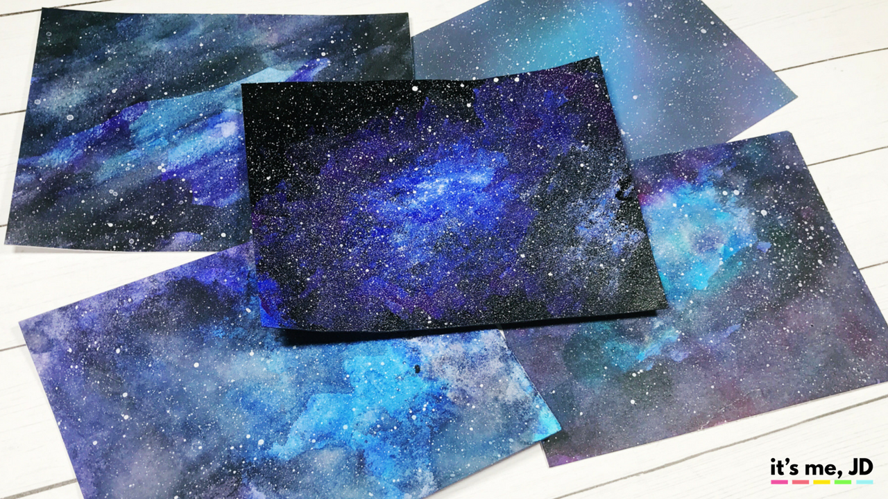EASY WAYS TO DRAW A GALAXY _ Paint Galaxies Using Watercolor, Acrylics, Ink Blending and Even Markers! For Beginners