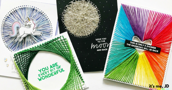 DIY String Art Tutorial for Cards and Paper Crafts