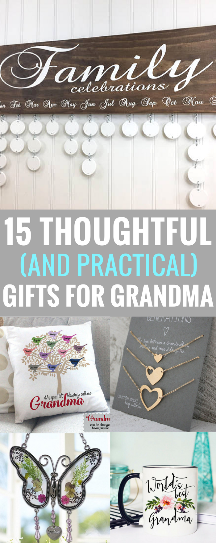 #grandma #mothersday 15 Thoughtful (and Practical) Gifts for Grandma