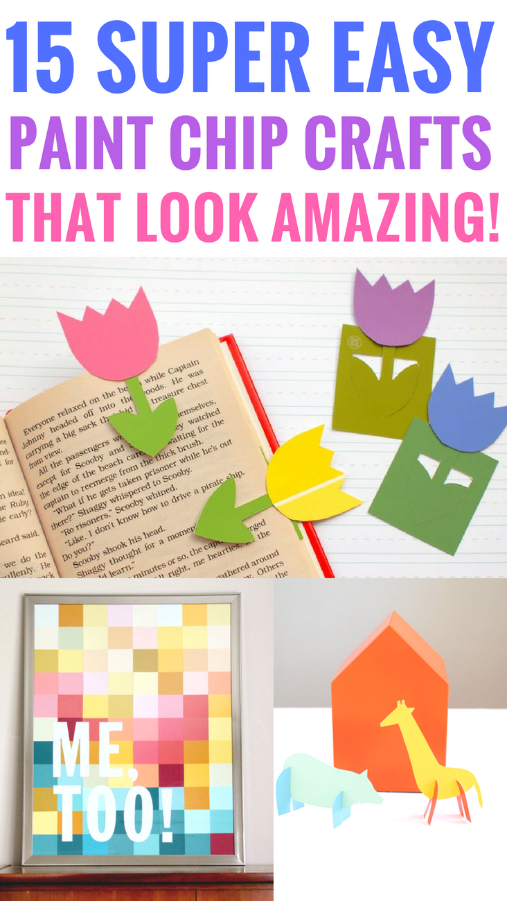 15 Easy Paint Chip Crafts That Look Amazing #craft #diycrafts #paintchips