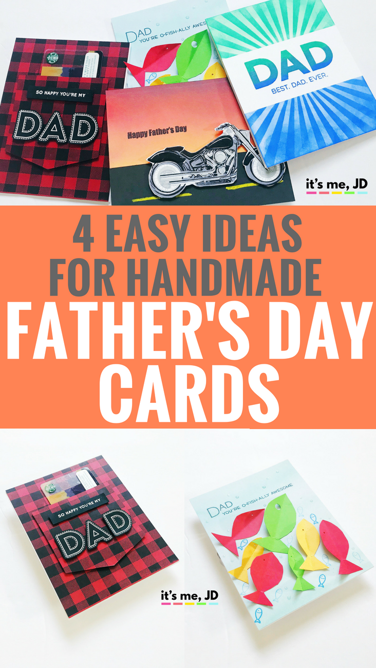 Easy Handmade Father's Day Card Ideas _ Tutorial on DIY Father's Day Cards #fathersday #cardmaking #papercraft