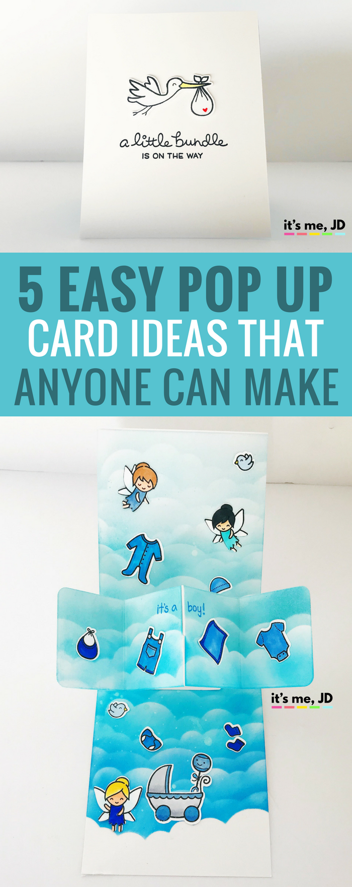 #cardmaking #popupcard #papercraft 5 EASY POP UP CARD ideas THAT ANYONE CAN MAKE, tutorial on interactive card