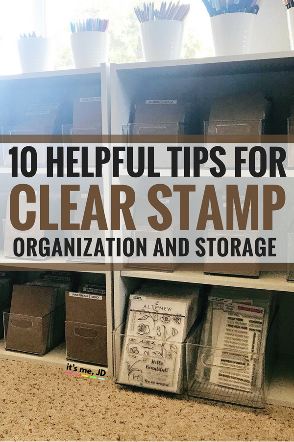 10 Helpful Tips for Clear Stamp Organization and Storage #craft #stamps #stamp #cardmaking #papercraft