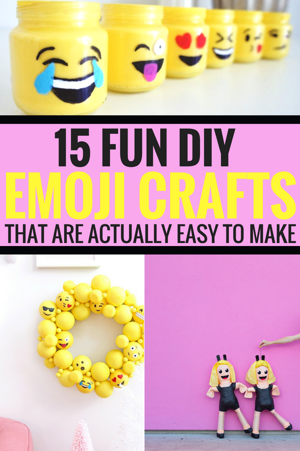 #emoji #emojicrafts #crafts #craft 15 Fun DIY Emoji Crafts That Are Actually Easy To Make