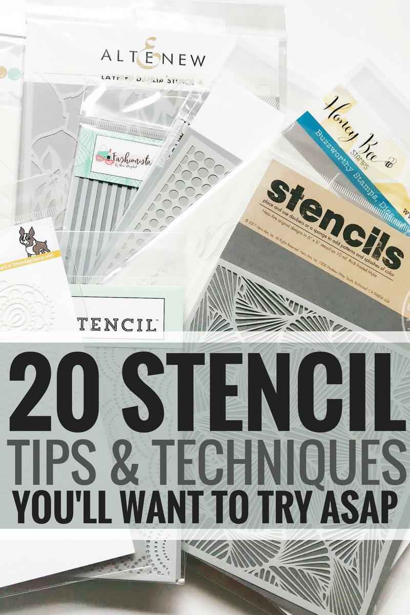 Stencil Tips And Techniques You Want to Try ASAP #craft #crafts #stencil #stencilart
