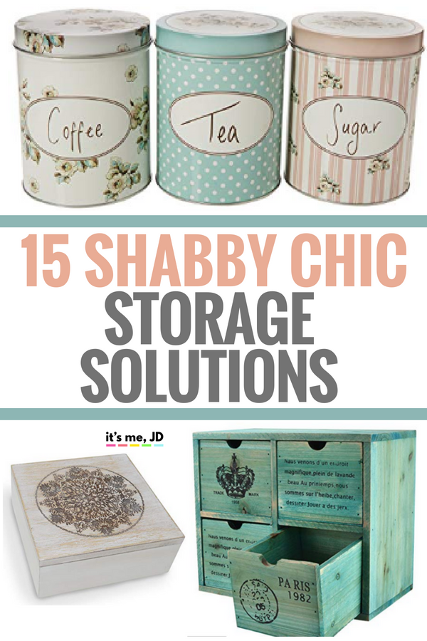 15 Shabby Chic Storage Solutions and Organization Ideas for a Vintage Feel #shabbychic #vintage #storageideas #vintageromance