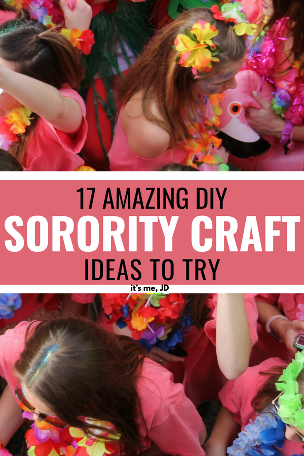 17 Amazing DIY Sorority Craft Ideas #sorority #sororitycrafts #greeklife #sororitylife
