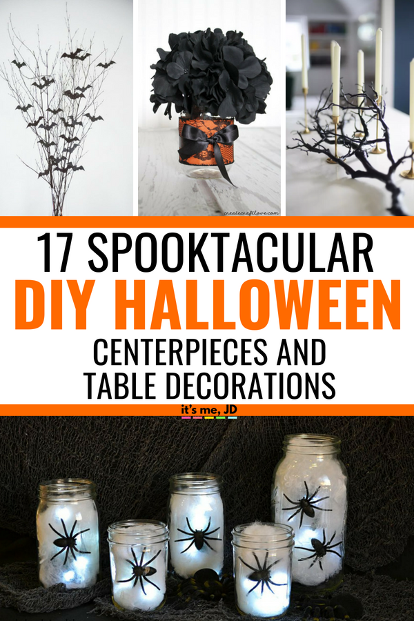 17 DIY Halloween Centerpieces and Table Decorations That Look Spooktacular #halloween #halloweencenterpieces #halloweendecor #halloweendecorations