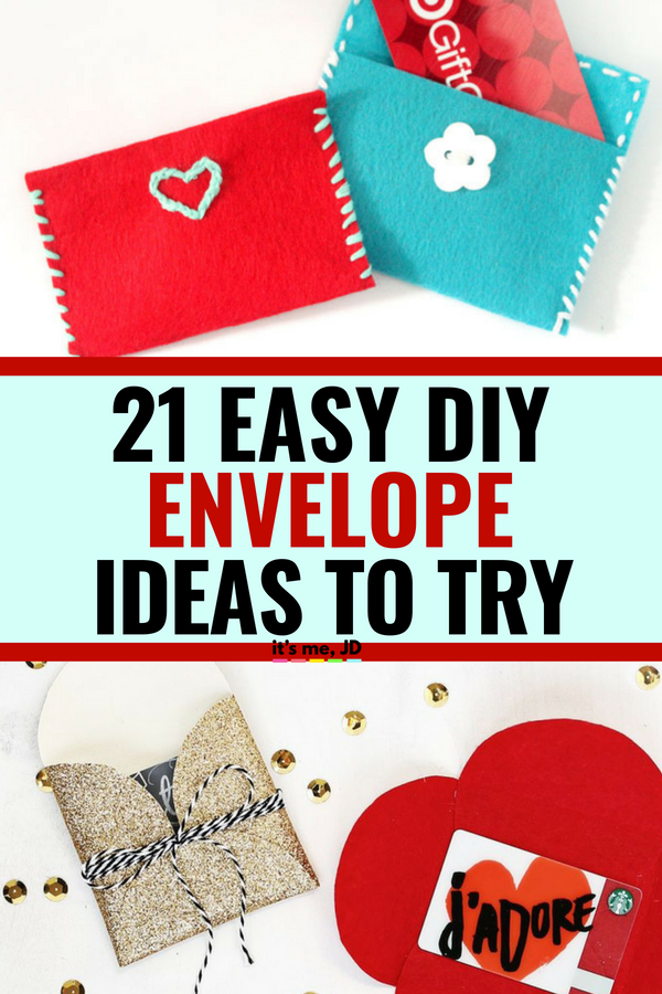 21 Easy DIY Envelope Ideas To Try #envelope #diyenvelope #papercraft