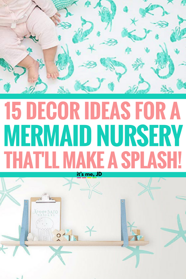 25 Decor Ideas For A Mermaid Nursery That Will Make A Splash! #nurserydecor #nurseryideas #mermaidnursery