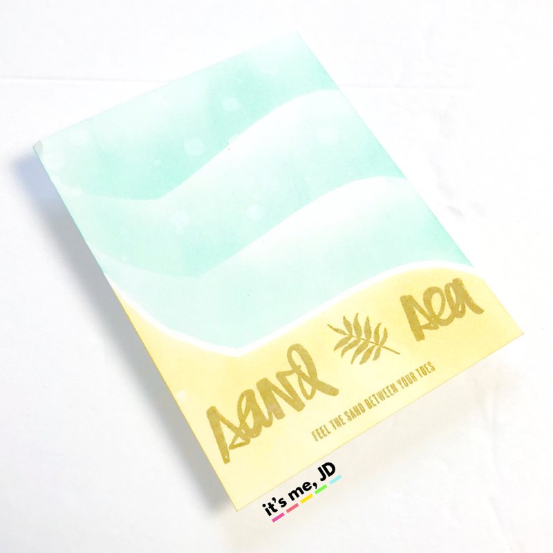 4 SUMMER BEACH CARDS TO MAKE 1