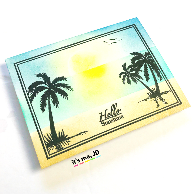 4 SUMMER BEACH CARDS TO MAKE