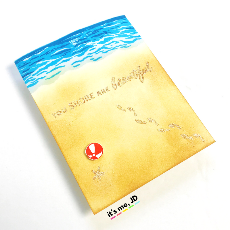 4 SUMMER BEACH CARDS TO MAKE 4
