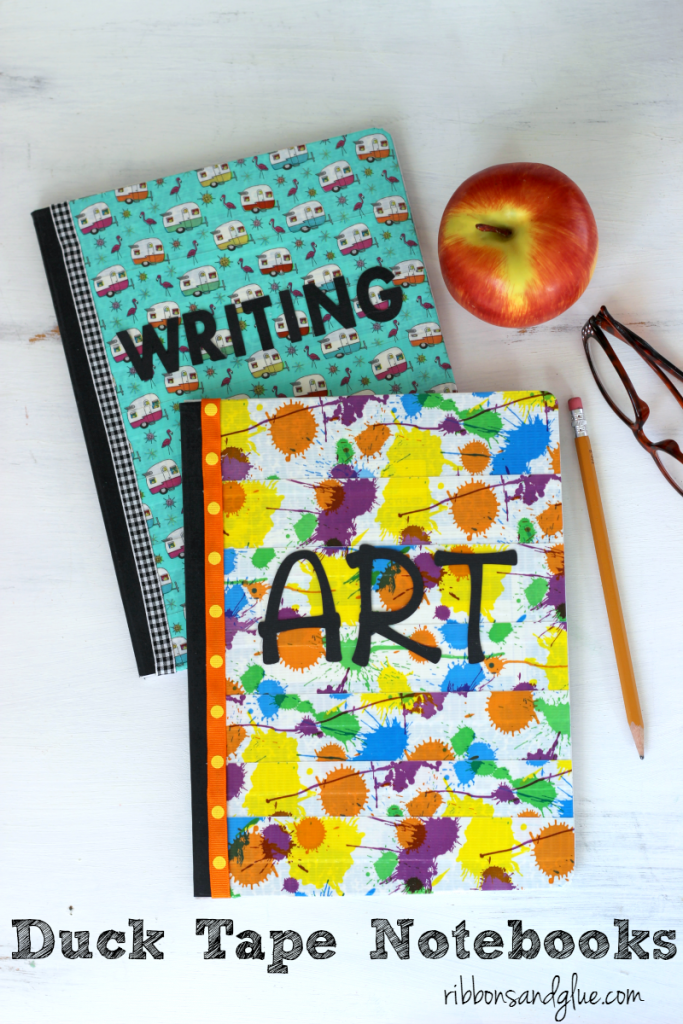 These Duck Tape Covered Composition Books are an inexpensive and simple idea to bring a little bit of personalized fun in to your child's school day since Back to School isn't always the most fun for some kiddos.