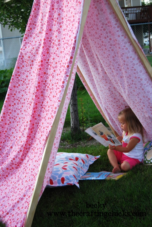 It won't take long for your kids to jump right into the tent and drag their books and pillows out.