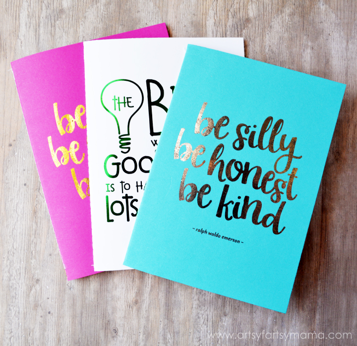 These notebooks are a stylish and functional way to organize your shopping lists, and as a journal or back to school notebook for the kids!