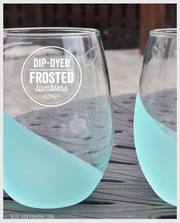 Use some frost paint to make the cutest DIY tumbler glasses.