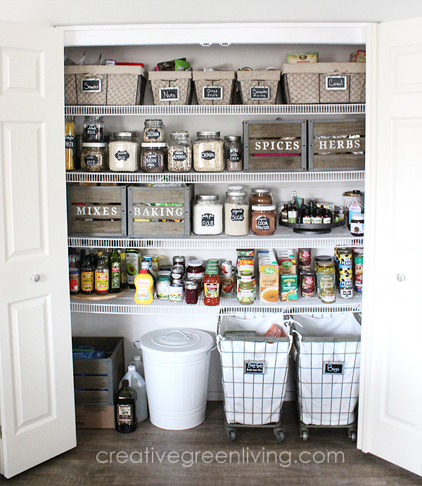 There are few things nicer than a newly organized space. If you are looking for some pretty and practical farmhouse style pantry organization ideas this post is for you!