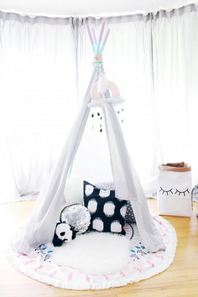 Kid's play teepees. They are so cute and somehow so necessary even though they're not at all necessary, right?