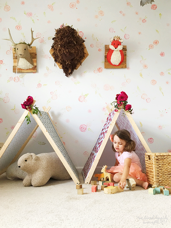 Get ready for some awesome sleepovers with these darling a-frame tents!