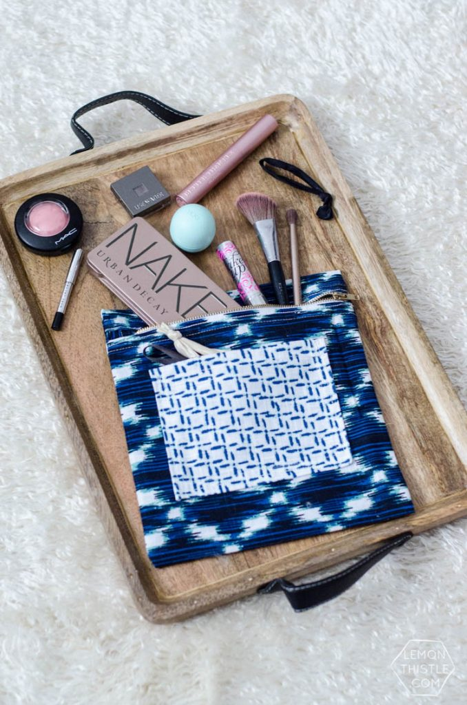 This DIY involves a bit of sewing but is SO worth it. This little pouch was made for under $5 and would make a great gift… but once you make it you won't want to give it away,