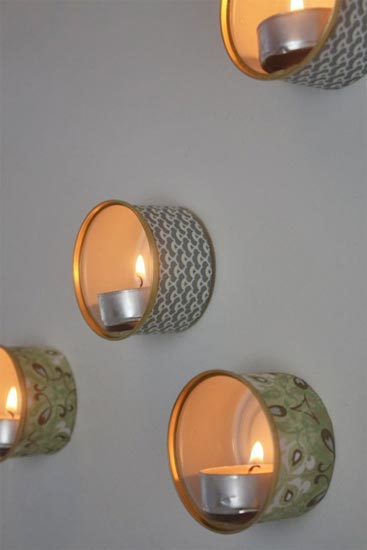These little tin lights are the perfect use for the cat food tins that have been piling up, and they will light up one of the darker corners of your room.