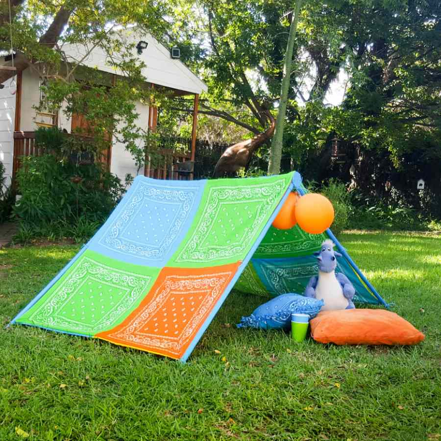 Build a play tent so kids can have a little place they can call their own where their imaginations can go wild!!!