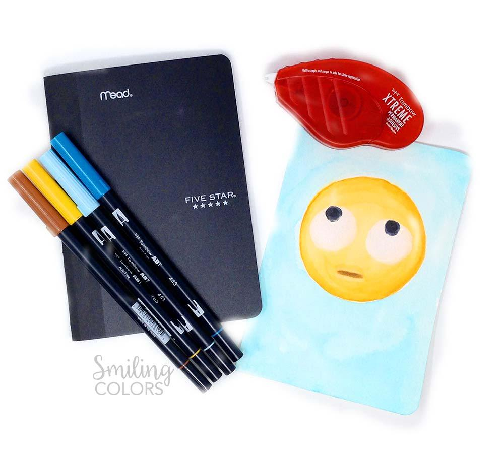 Make your school supplies trendy, unique and special by adding emojis today!