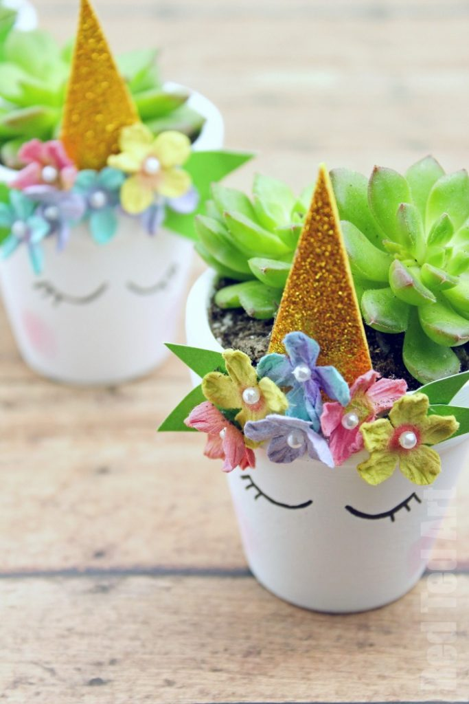 You can use these Unicorn DIY for succulents but they would also make a great pen pot/ desk accessory!
