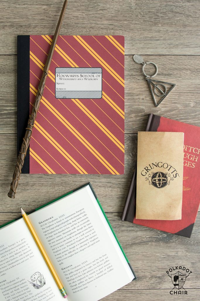 Is your family Harry Potter obsessed?  These notebooks are SO easy to make with a composition book and a few other supplies.