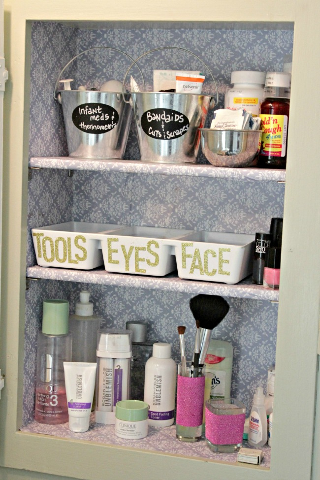 Make a space for different types of makeup, and they'll always have a home!