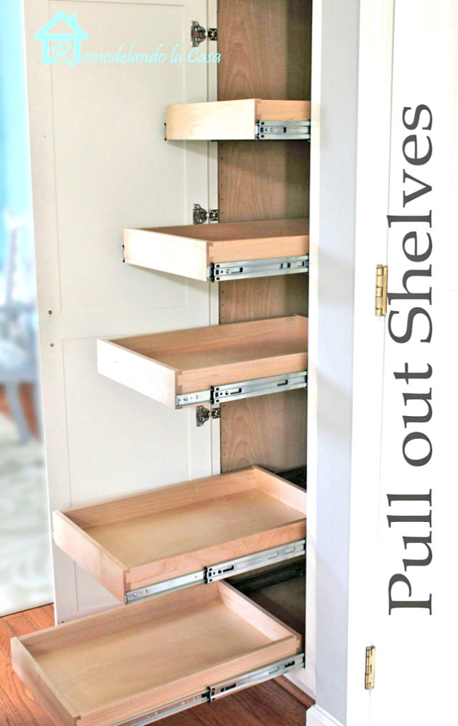 Pull out shelves make all the difference in your pantry - you might even find cans of food you forgot you had!