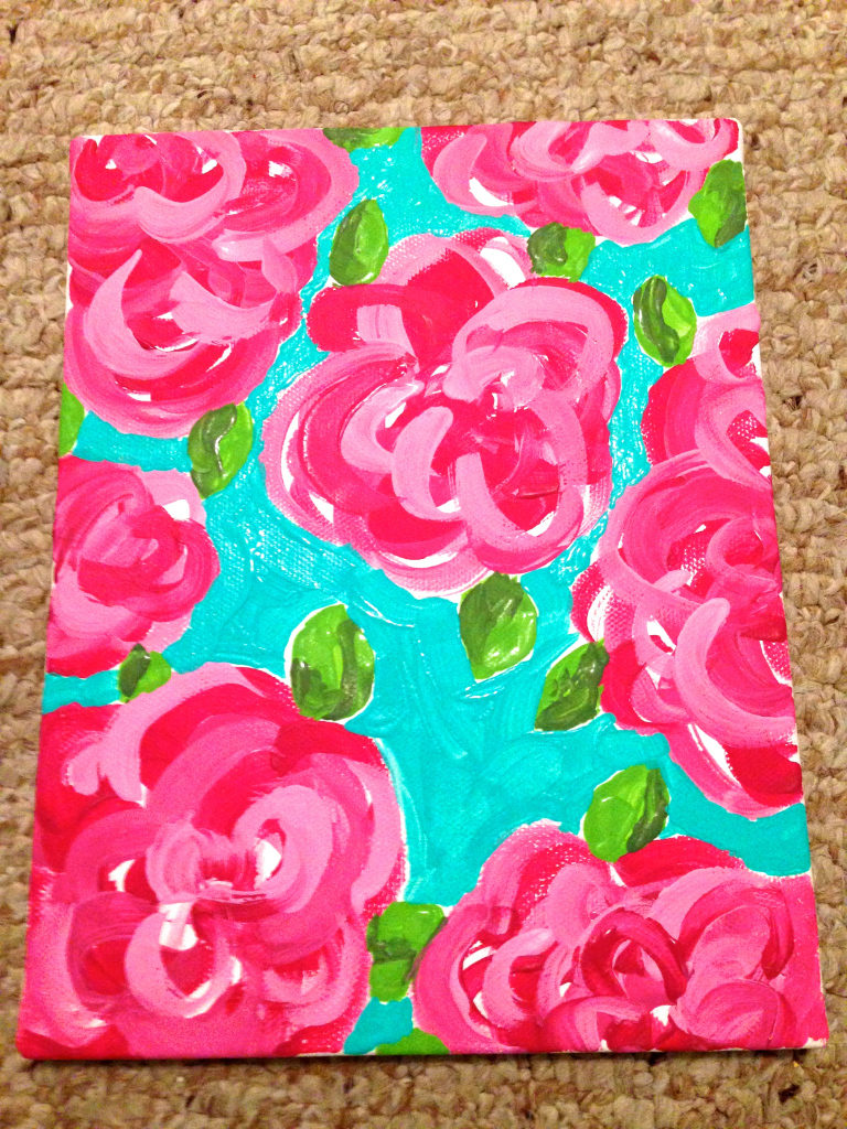 Sororities and Lily Pulitzer go together effortlessly, and making your own Lily Pulitzer canvas isn't as hard as you'd think.