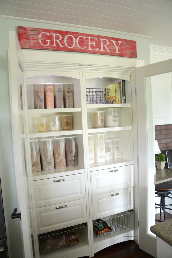 Changing out normal doors for french doors on your pantry can inspire organization since you'll be able to see everything!