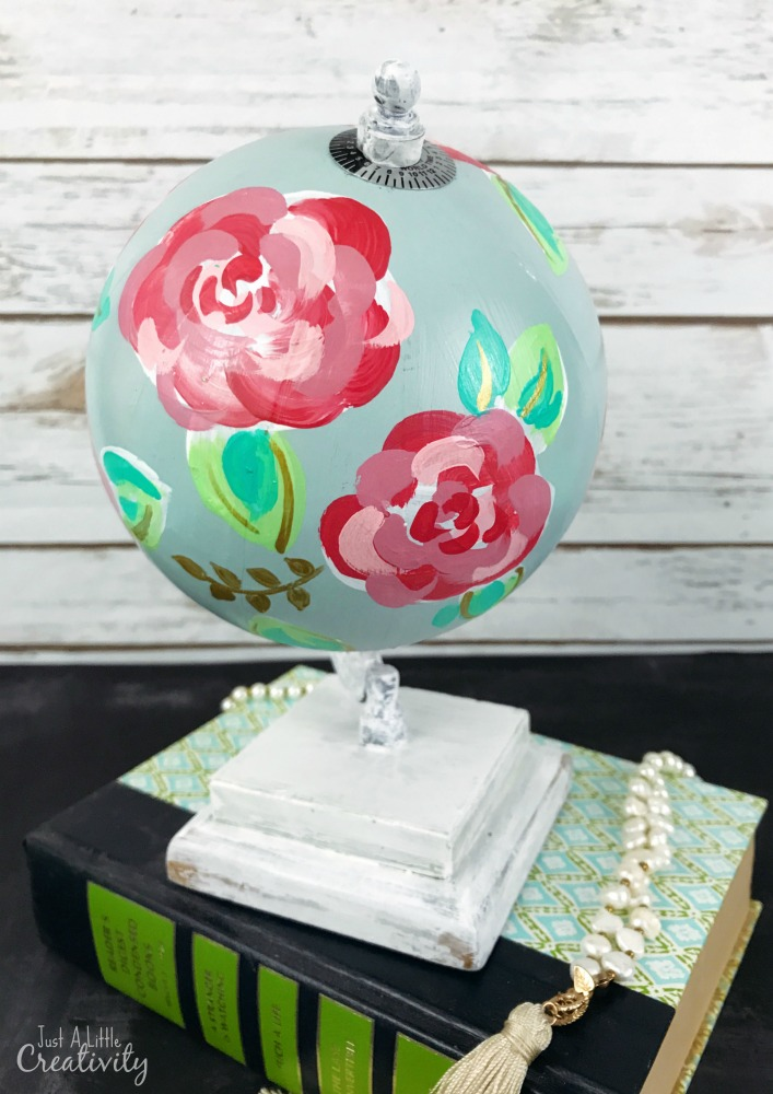 If everyone in your sorority has a room covered in Lilly Pulitzer, this globe makeover will fit in perfectly.