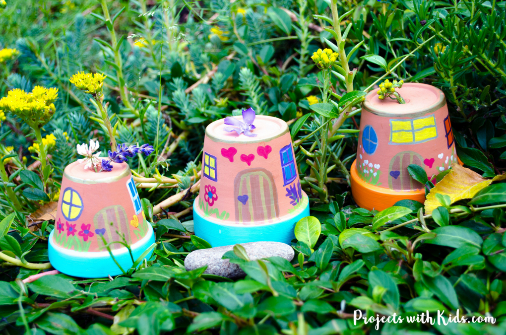 All you need are a few simple supplies and your creativity to make these magical houses for your own garden.