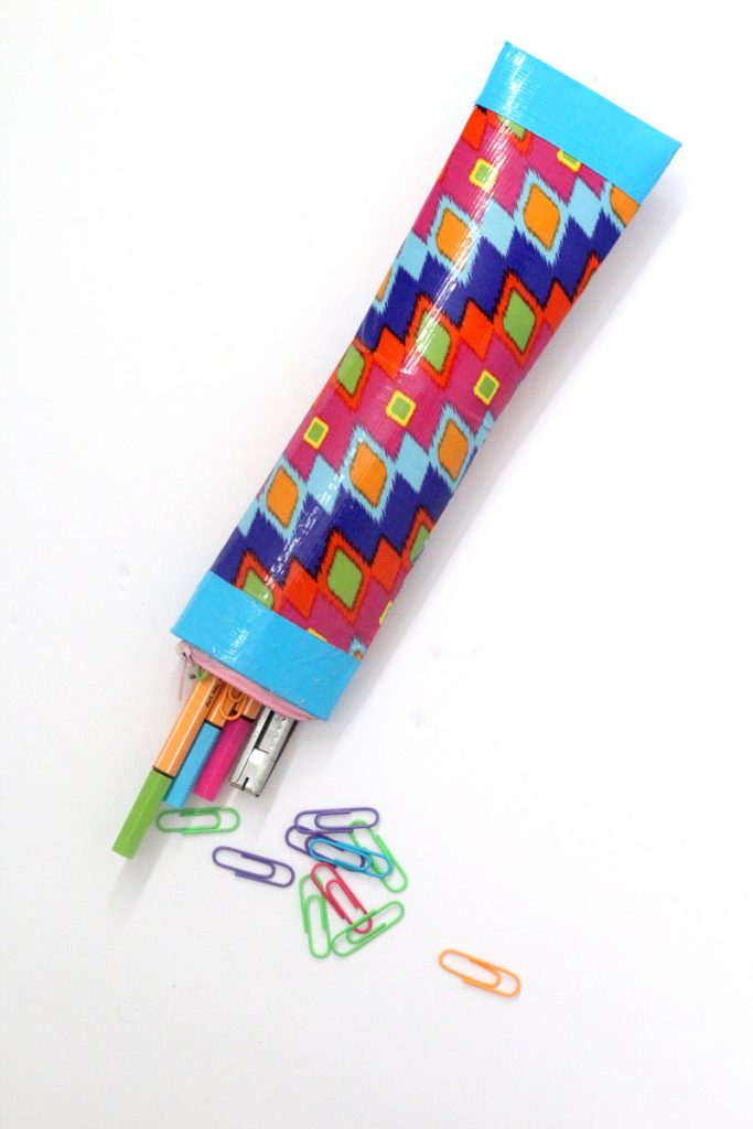 go with the form of the tube and make a sturdy DIY pencil pouch that's perfect for on-the-go.