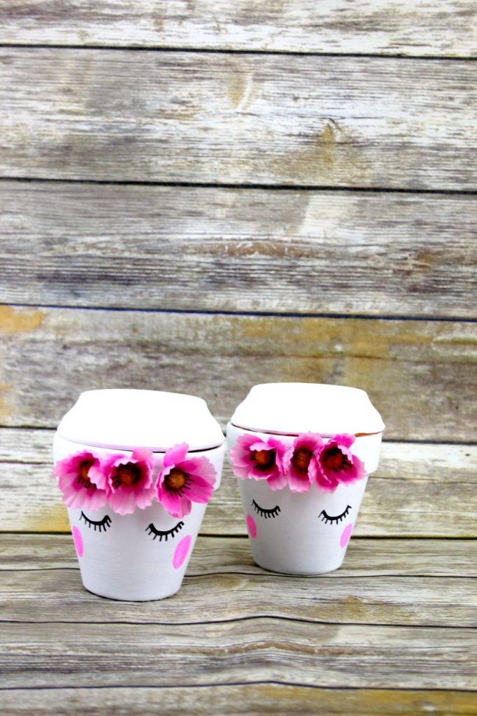 These adorable cute face planters make the perfect gift for Mother's Day or Teacher Appreciation gifts. The cute pots can hold small gifts like candy, seeds, hair ties or desk accessories.