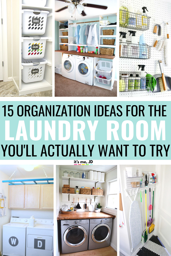 15 Clever Laundry Room Organization Ideas You'll Actually Want To Try #laundryroom #laundryroomstorage #smalllaundryroom #laundryorganization #laundryroomorganization