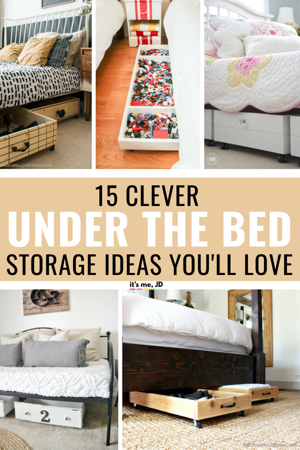 15 Clever Under the Bed Storage Ideas You'll Love #storageideas #underthebedstorage #bedroomstorage #bedroomorganization