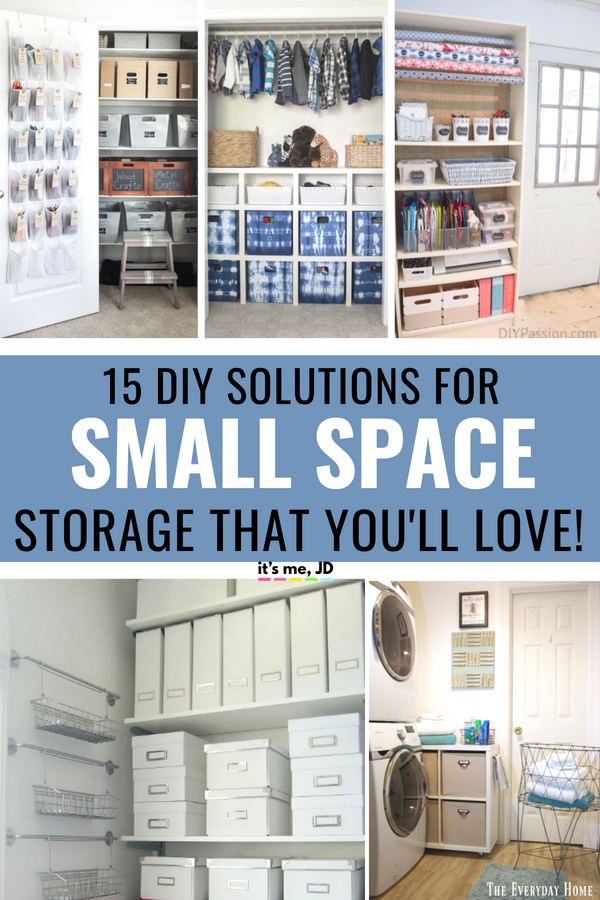 15 DIY Small Space Storage Ideas To Finally Get You Organized #organization #smallspace #diyorganization #diystorage