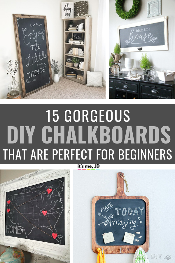 15 Easy DIY Chalkboard Project Ideas That Are Perfect For Beginners #chalkboard #diychalkboard #chalk #diyproject