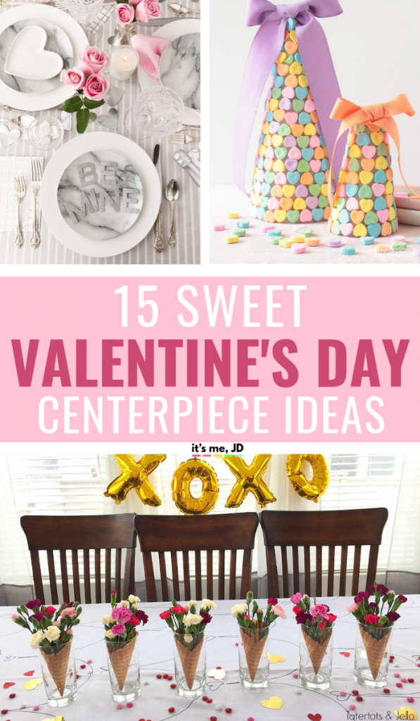 15 Sweet Valentine's Day Centerpiece Ideas To Celebrate Love #valentine #valentinesday #centerpiece #valentinesdaydecorations