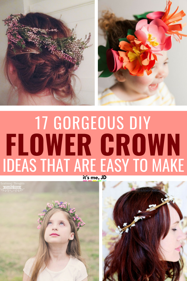 17 Gorgeous DIY Flower Crown Ideas That Are Surprisingly Easy To Make #DIYflowercrown #diyflowerheadband #flowerheadband #flowercrown #flowercrowns